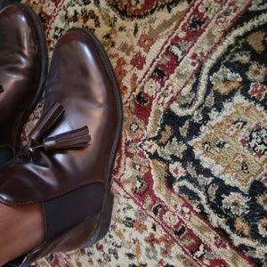 Maroon Patent Leather Zara Chelsea Boots